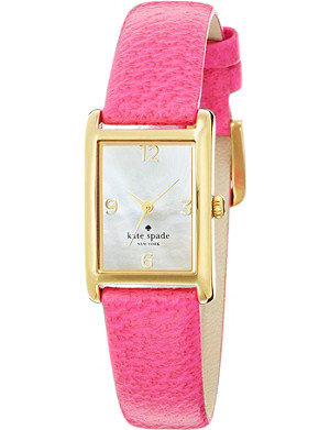 KATE SPADE 1YRU0039 Cooper stainless steel and leather watch