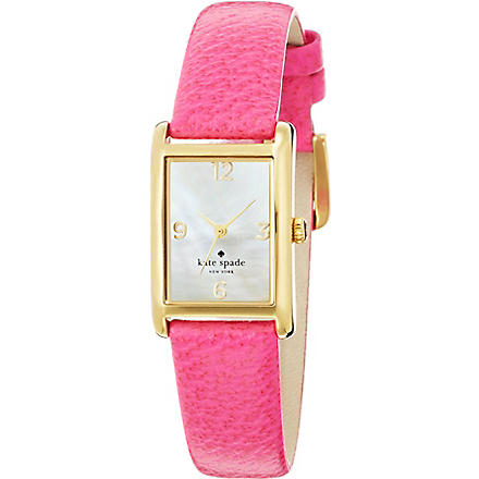 KATE SPADE 1YRU0039 Cooper stainless steel and leather watch (Pink