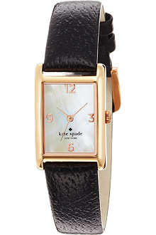 KATE SPADE 1YRU0043 Cooper stainless steel and leather watch
