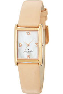 KATE SPADE 1YRU0044 Cooper stainless steel and leather watch