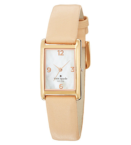 KATE SPADE 1YRU0044 Cooper stainless steel and leather watch (Champagne