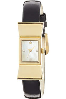 KATE SPADE 1YRU0068 Carlyle stainless steel and leather watch
