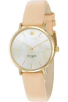 KATE SPADE 1YRU0073 Metro stainless steel and leather watch