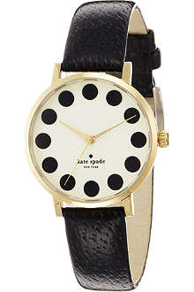 KATE SPADE 1YRU0107 Metro stainless steel and leather watch