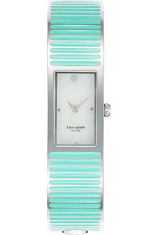 KATE SPADE Carousel silver-plated metal and enamel watch