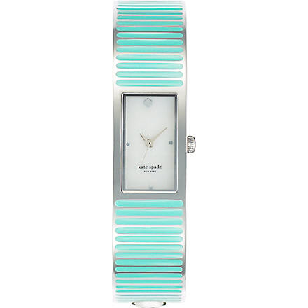 KATE SPADE Carousel silver-plated metal and enamel watch (Mixed