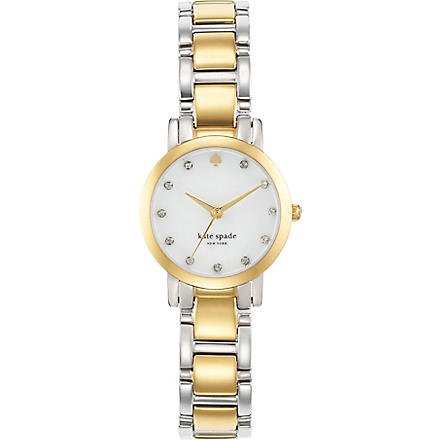 KATE SPADE Gramercy mini stainless steel and gold-plated metal watch (Steel & gold