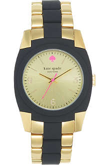 KATE SPADE Skyline gold-plated metal and polycarbonate watch