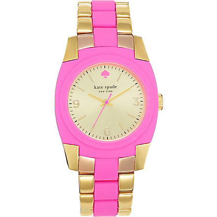 KATE SPADE Skyline gold-plated metal and polycarbonate watch (Mixed
