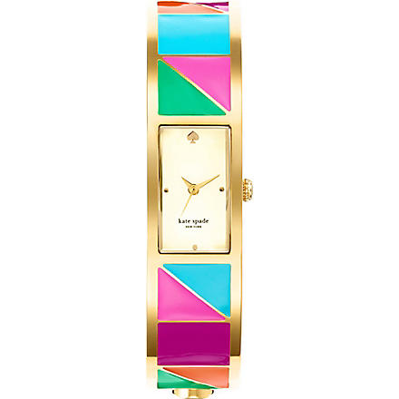KATE SPADE Carousel gold-plated metal and enamel watch (Mixed