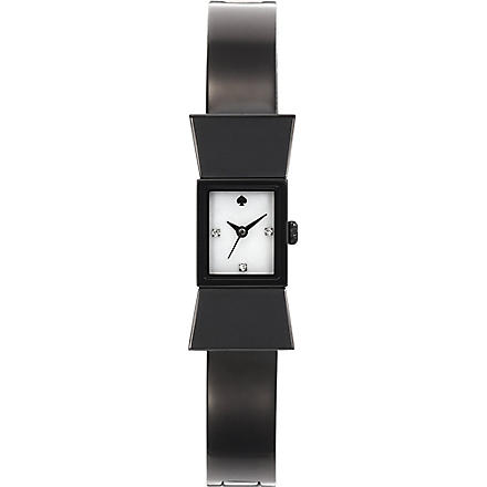 KATE SPADE Carlyle black metal watch (Black