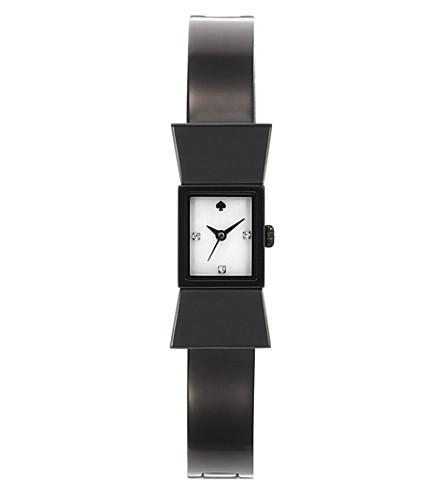 KATE SPADE Carlyle black metal watch (Black