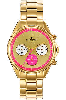 KATE SPADE Seaport gold-plated chronograph watch