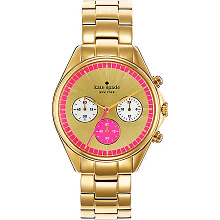 KATE SPADE Seaport gold-plated chronograph watch (Gold