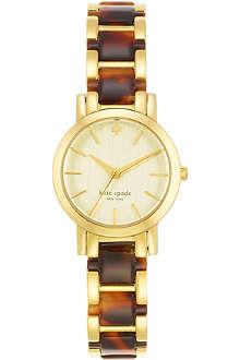 KATE SPADE Gramercy mini gold-plated metal and enamel watch