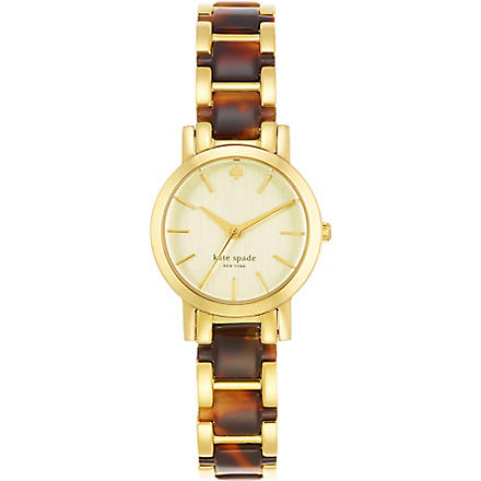 KATE SPADE Gramercy mini gold-plated metal and enamel watch (Mixed