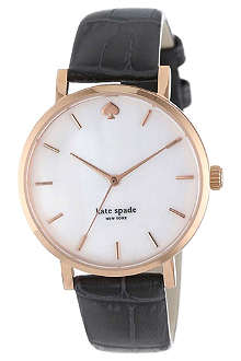 KATE SPADE Snakeskin-embossed watch