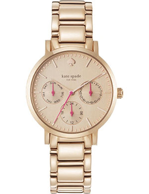 KATE SPADE Grand multifunction rose gold watch