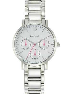 KATE SPADE Gramercy grand multifunction silver watch