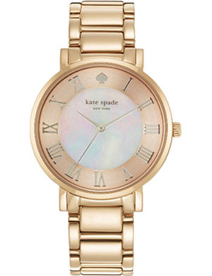KATE SPADE Gramercy rose gold-plated watch