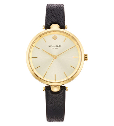 KATE SPADE 1YRU0811 Holland gold-plated leather watch