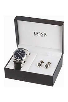 HUGO BOSS 210025 watch and cufflink set