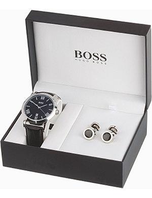 HUGO BOSS 210025 watch and cufflink set