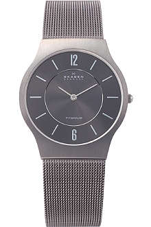 SKAGEN 233LTTM titanium mesh bracelet watch