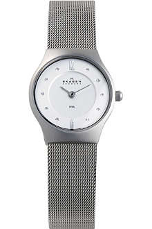 SKAGEN 233XSSS1 stainless steel and mesh watch