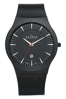 SKAGEN 234XXLTB carbon-coated stainless steel watch