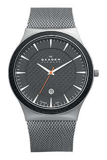 SKAGEN 234XXLT carbon-coated stainless steel watch