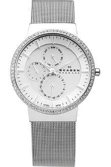 SKAGEN 357XLSSS silver-plated chronograph watch