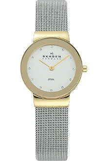 SKAGEN 358SGSCD stainless steel and mesh watch