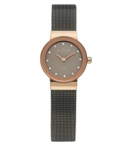 SKAGEN 358XSRM steel mesh watch (Black