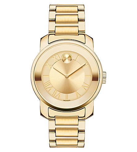 MOVADO 3600323 Bold yellow-gold ion-plated stainless steel watch