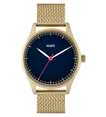 MIRO Classic blue and gold watch