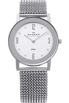 SKAGEN 39LSSS1 stainless steel and mesh watch