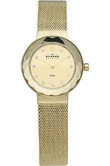 SKAGEN 456SGSG gold-plated stainless steel watch