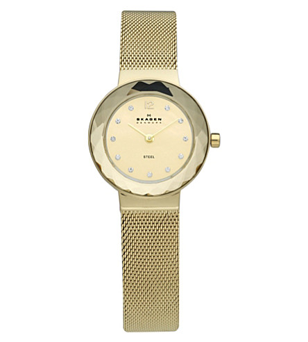 SKAGEN 456SGSG gold-plated stainless steel watch (Gold
