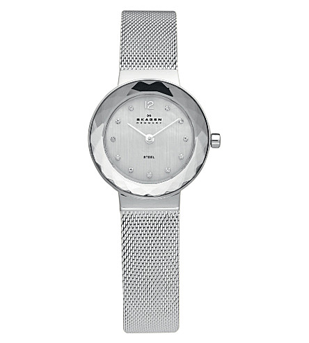 SKAGEN 456SSS stainless steel watch (Silver