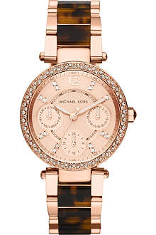 MICHAEL KORS MK5841 Parker rose-gold plated watch