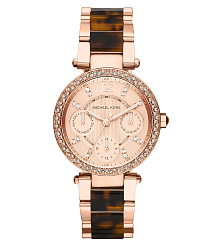 MICHAEL KORS MK5841 Parker rose-gold plated watch (Rose+gold