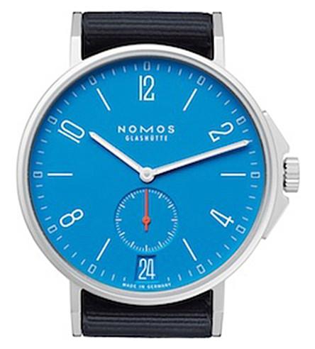 NOMOS GLASHUTTE Ahoi Neomatik Signalblau stainless steel watch