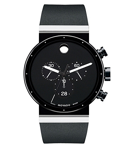 MOVADO 0606501 sapphire synergy stainless steel watch (Black
