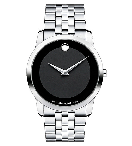 MOVADO 0606504 museum classic stainless steel watch (Black