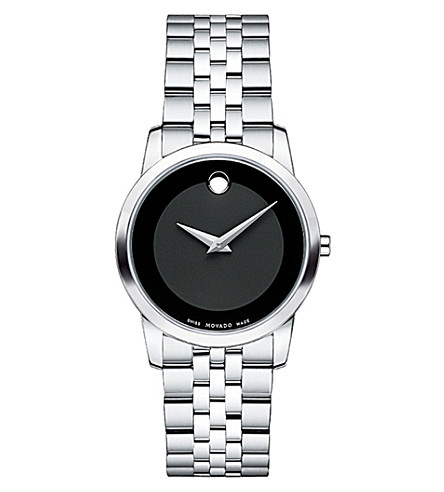 MOVADO 606505 museum classic stainless steel watch (Black