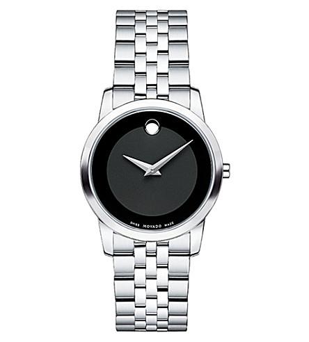 MOVADO 606505 博物馆经典不锈钢手表 (黑色