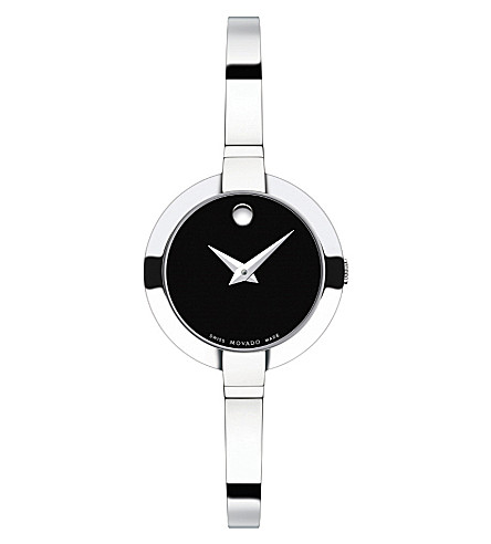 MOVADO 0606595 bela stainless steel watch (Black