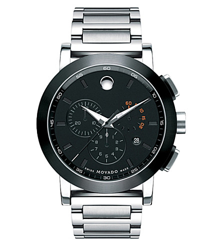 MOVADO 606792 Museum Sport stainless steel watch (Black