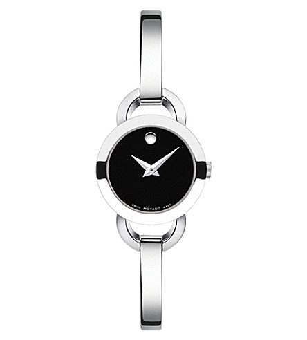 MOVADO 606796 Rondiro stainless steel watch (Black